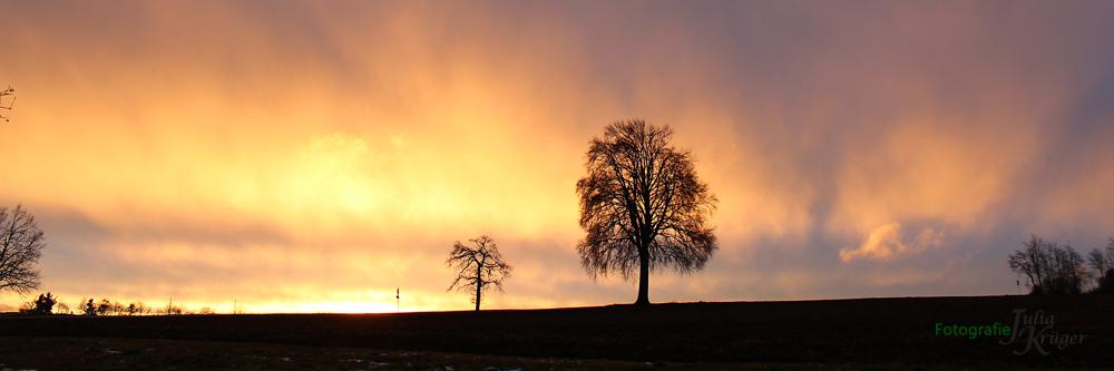 Sonnenuntergang Anfang März